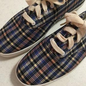 Keds Tennis Shoes Sneakers Tartan Plaid 6.5 NEW